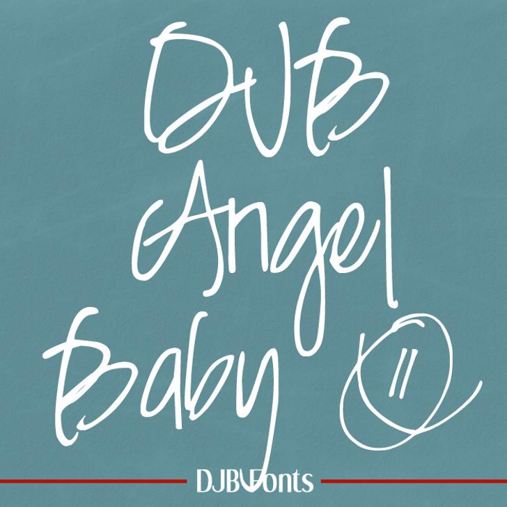 DJB Angel Baby Font blackboard handwriting