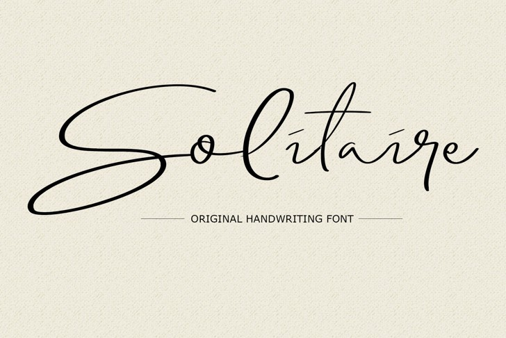 Solitaire Font handwriting design