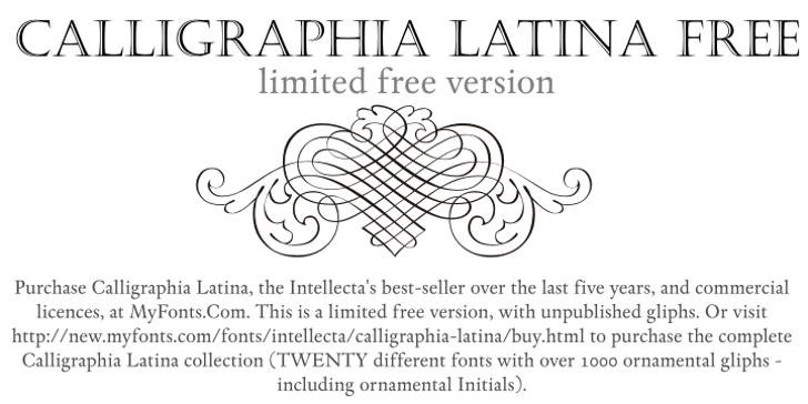 Calligraphia Latina Free Font cartoon