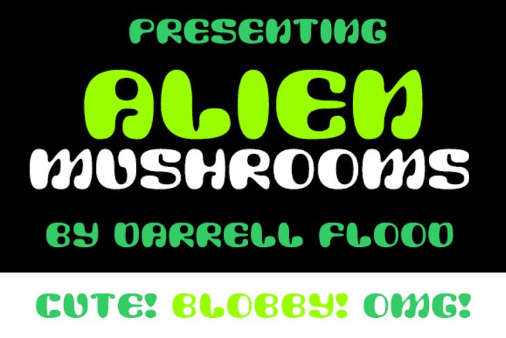 Alien Mushrooms Font screenshot font
