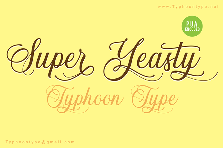Super Yeasty - Personal Use Font poster