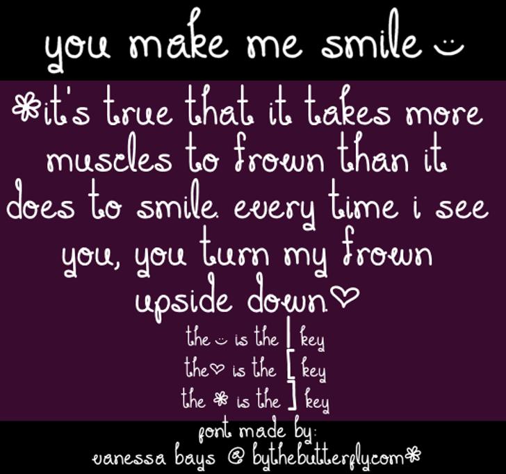 You Make Me Smile Font screenshot text