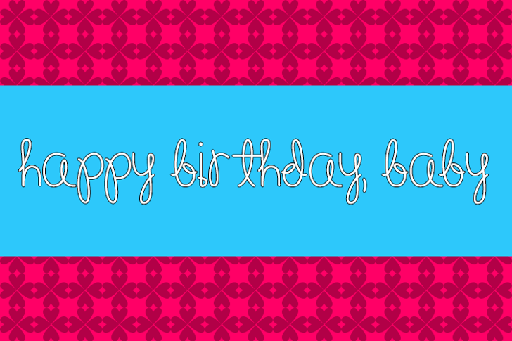 Happy Birthday, Baby Font illustration design