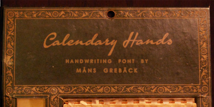 Calendary Hands PERSONAL USE DE Font handwriting indoor
