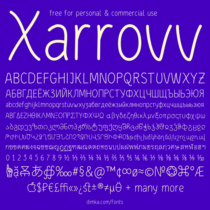 Xarrovv Font screenshot text