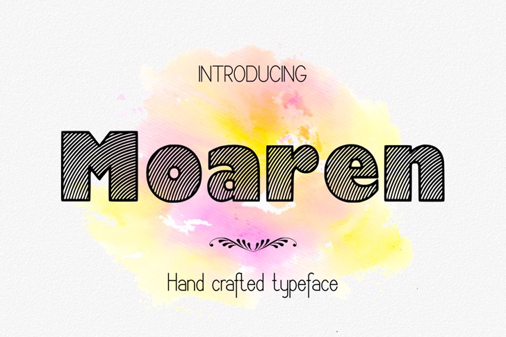 Moaren Font design illustration