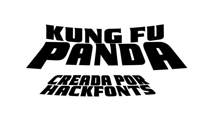 Kung Fu Panda Font poster design