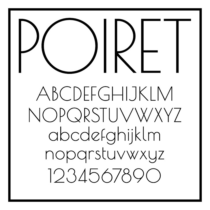 Poiret One Font design typography