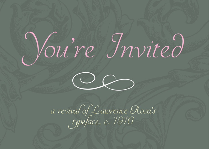 YoureInvited Font design typography