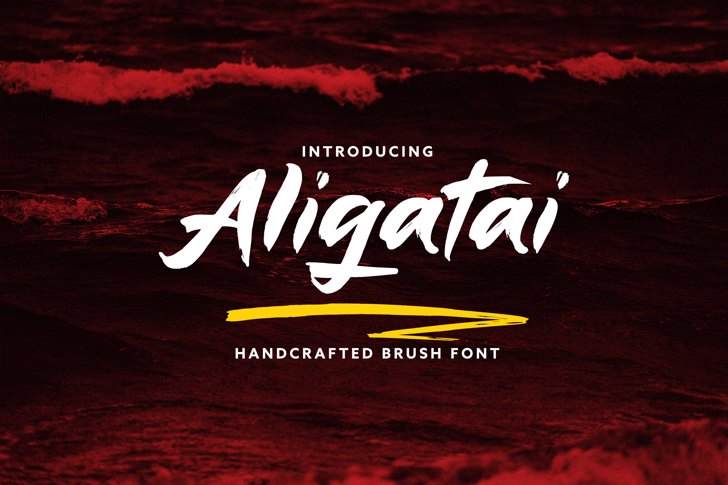 Aligatai Font poster
