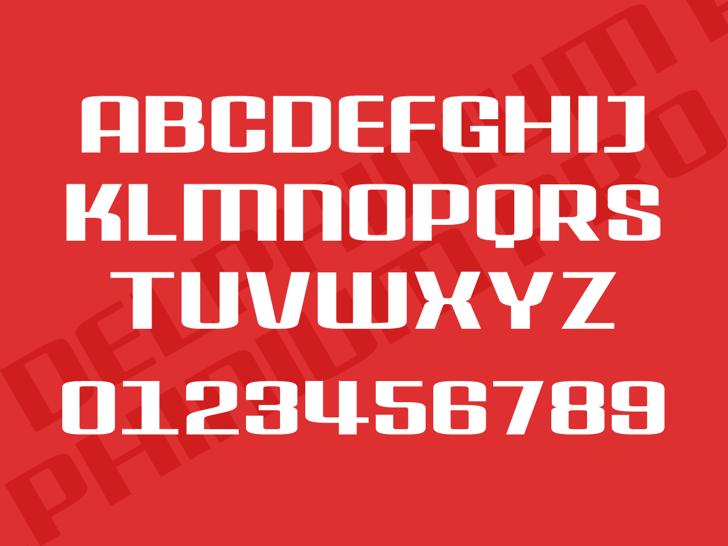 Delphinium Pro Font design poster