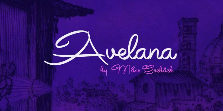 Avelana Bold PERSONAL USE Font handwriting design