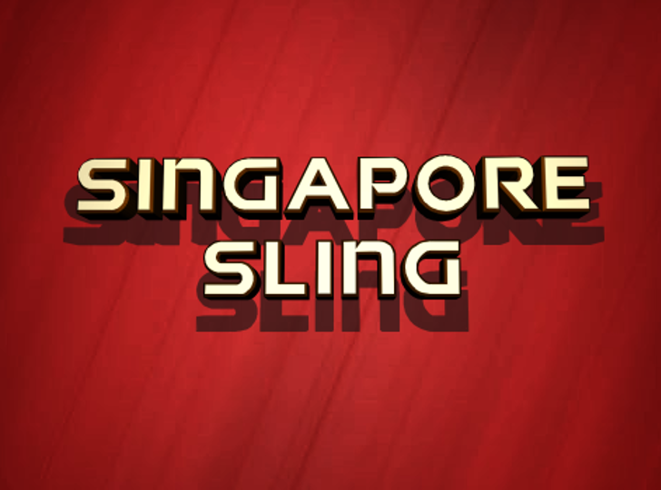 Singapore Sling Font red screenshot