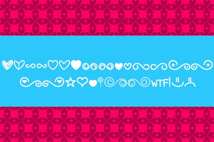 MF Dings 3 Font screenshot graphic