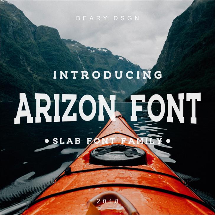 ARIZON Font mountain screenshot