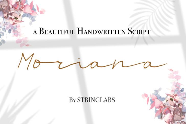 Moriana Font poster