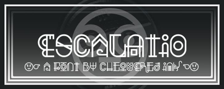 Escalatio Font screenshot design
