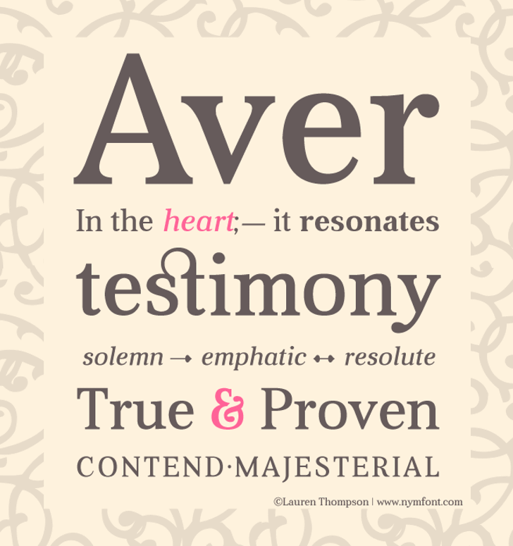 Aver Font text poster