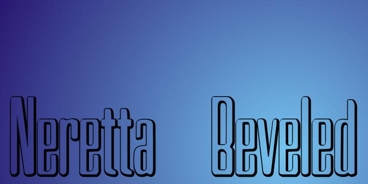 Neretta Beveled Font design typography