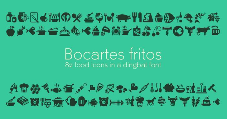 Bocartes fritos Font cartoon design