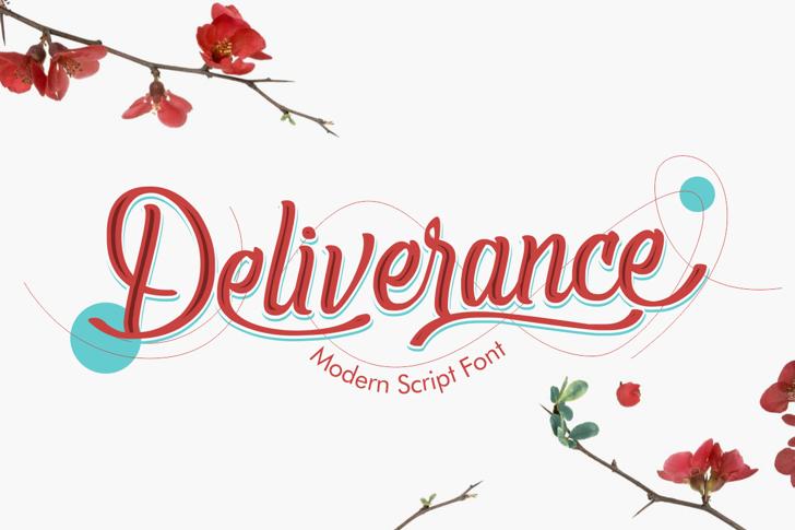 Deliverance Font poster