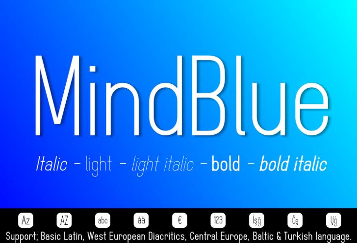 MindBlue Font design graphic
