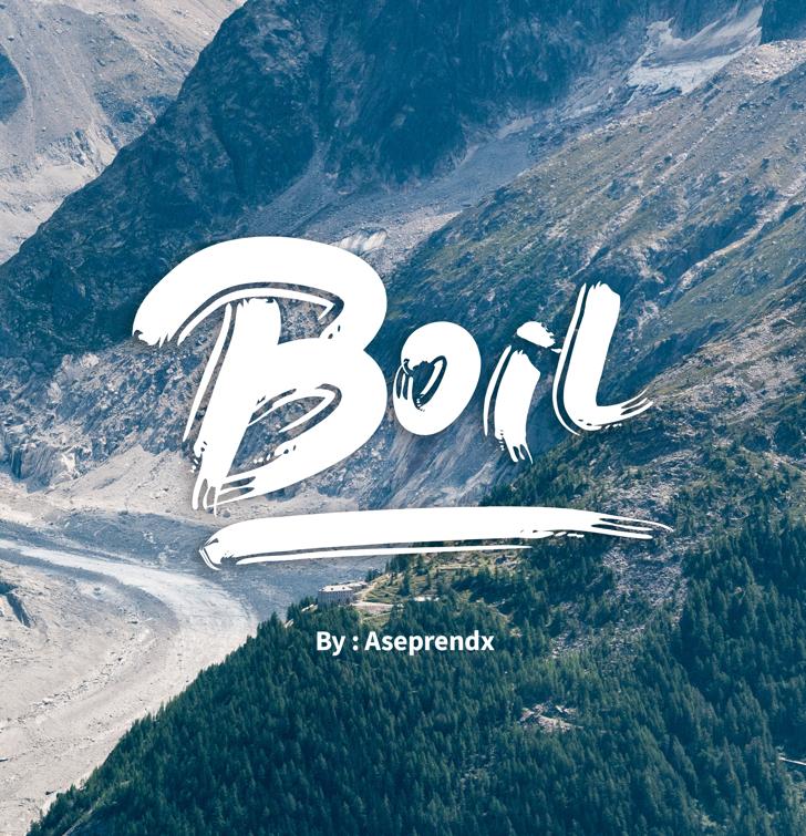 Boil Font mountain outdoor