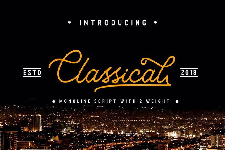 Classical Font text design