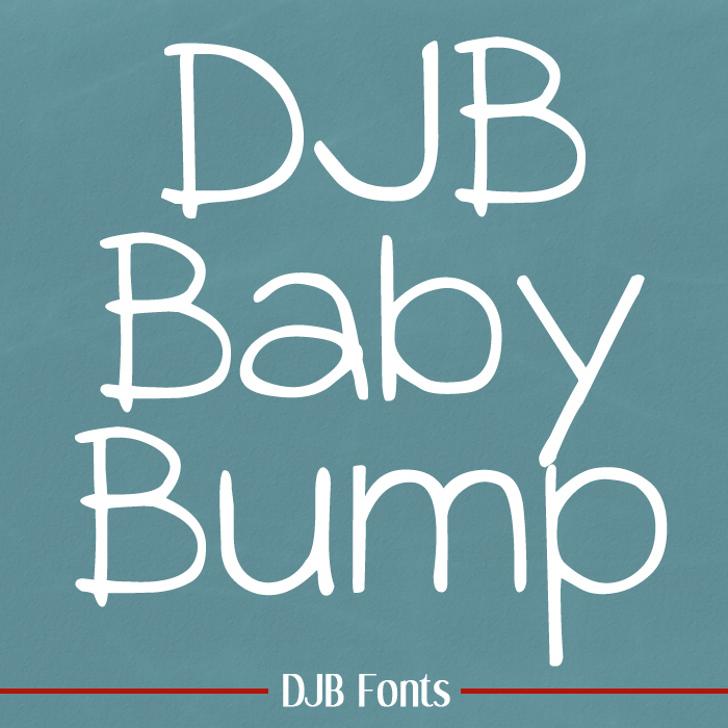 DJB BABY BUMP Font blackboard text
