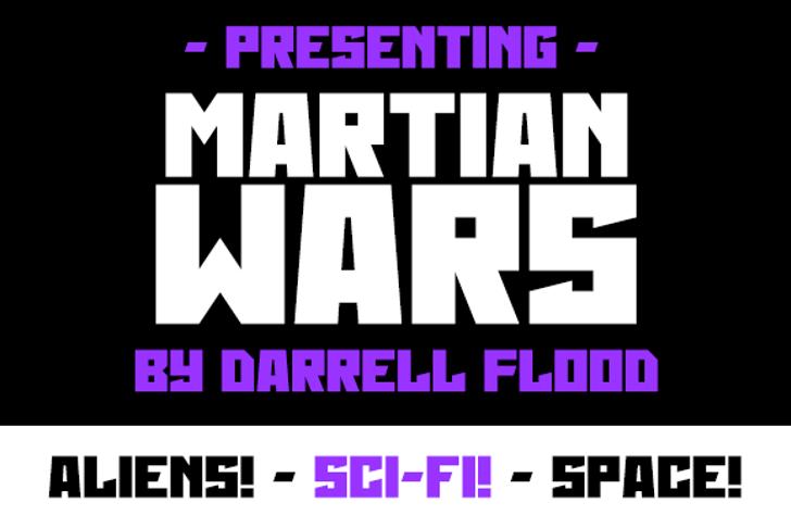 Martian Wars Font screenshot design