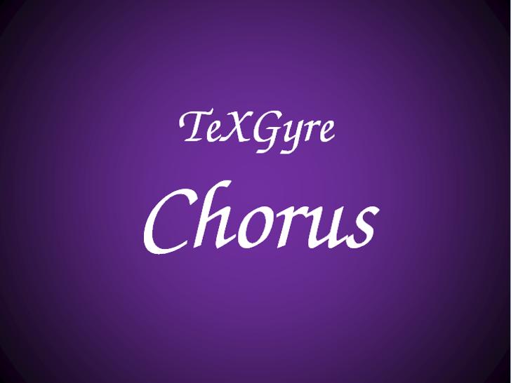 TeXGyreChorus Font design text