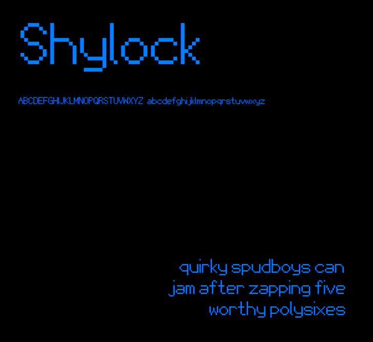 Shylock NBP Font design typography