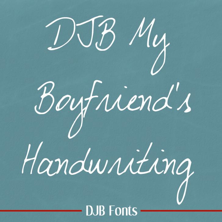 DJB My Boyfriend's Handwriting Font blackboard handwriting