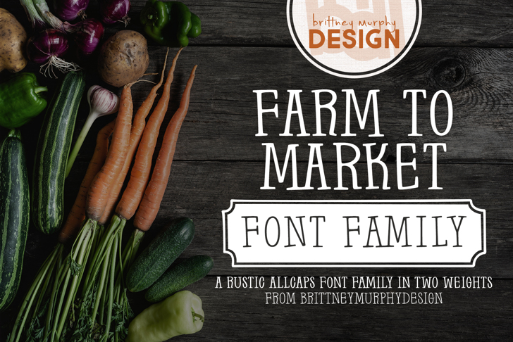 Farm to Market Font poster