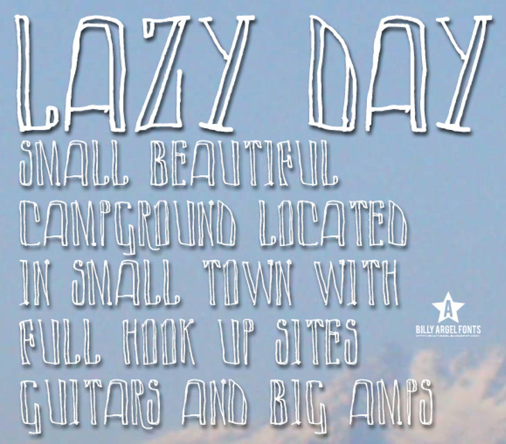 LAZY DAY Font text handwriting
