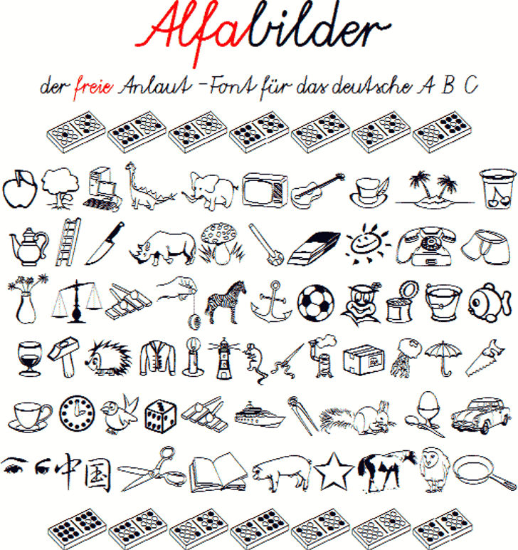 Alfabilder Font handwriting text
