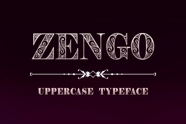 Zengo Font design text