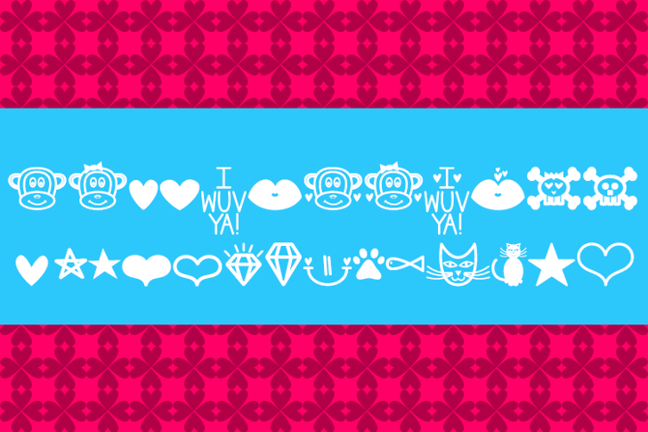MF Dings 2 Font screenshot design