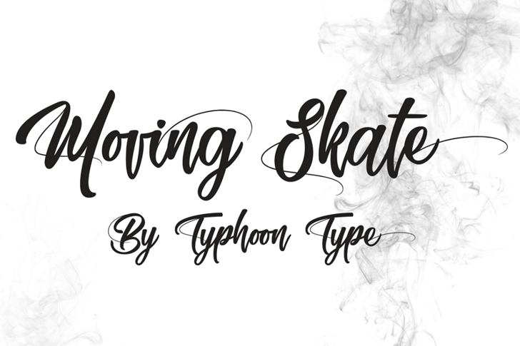 Moving Skate Font handwriting design