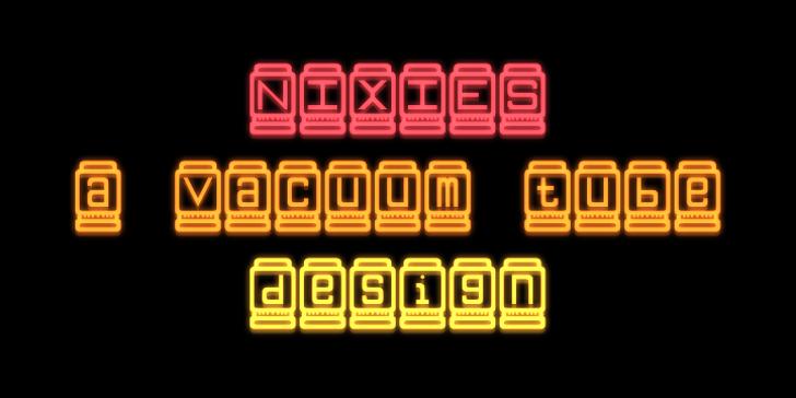 Nixies Font screenshot font