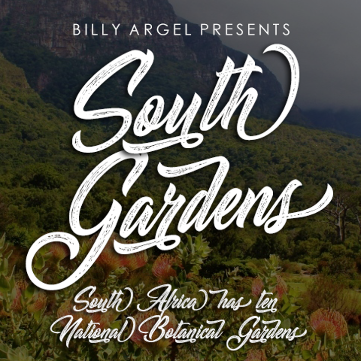 South Gardens Personal Use Font text typography