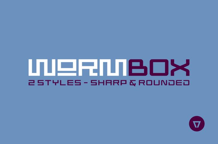 Wormbox Sharp Font screenshot design
