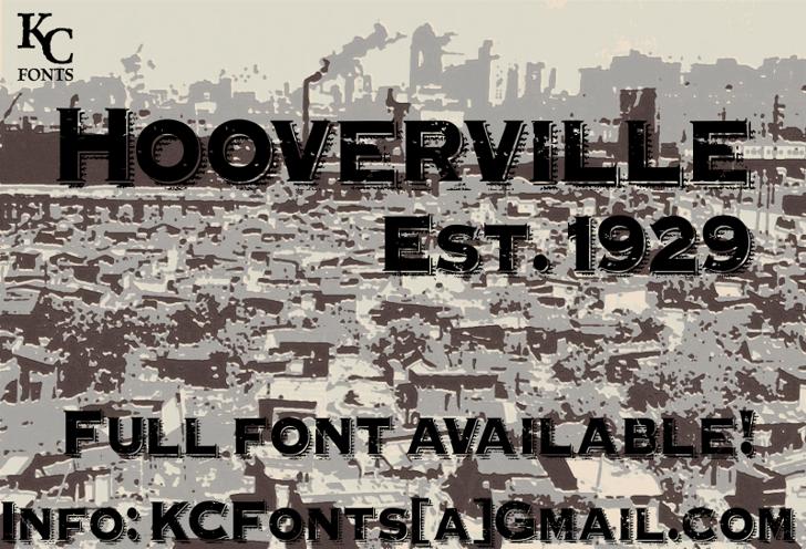 Hooverville Font old store