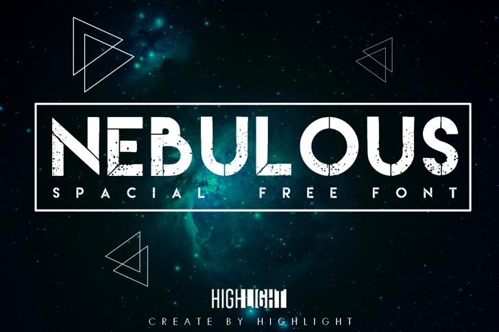 Nebulous Font screenshot design