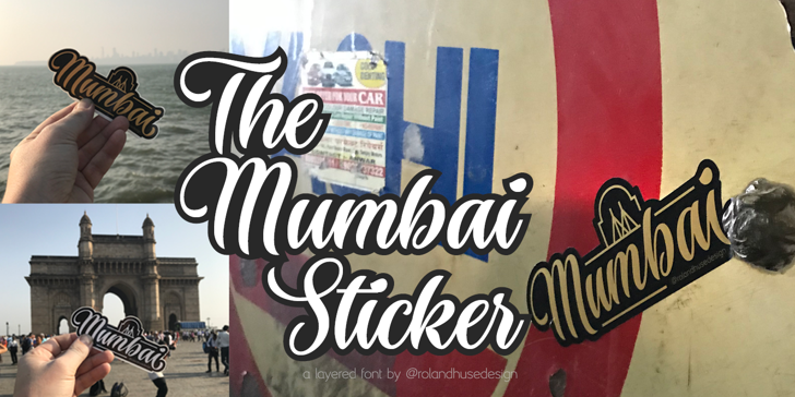 The Mumbai Sticker Demo Font poster design
