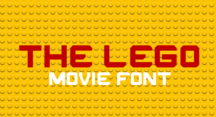 THE LEGO MOVIE Font screenshot poster