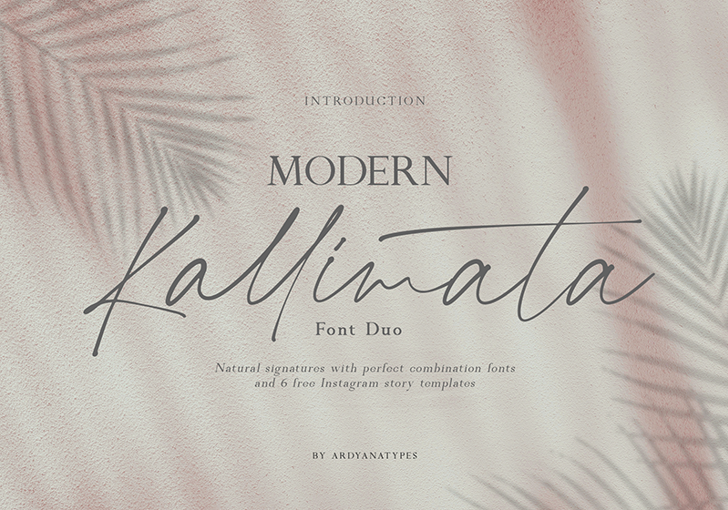 Kallimata Script Font poster