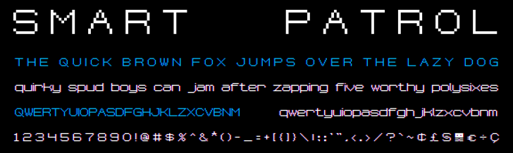 Smart Patrol NBP Font screenshot design