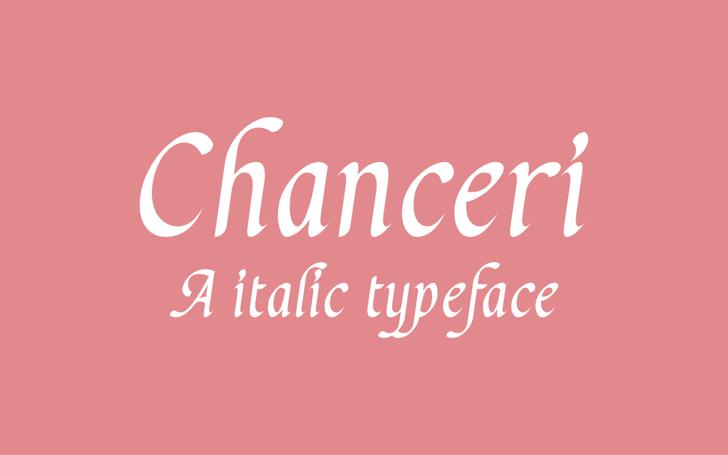 Chanceri Font design text