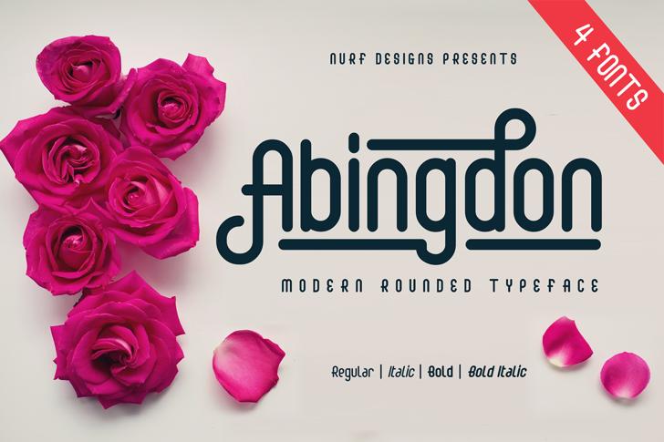 Abingdon Font rose flower
